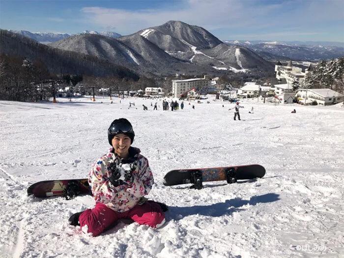 竜王スキーパークにて